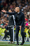 Manager Zinedine Zidane of Real Madrid reacts during the UEFA Champions League 2017-18 Round of 16 (1st leg) match between Real Madrid vs Paris Saint Germain at Estadio Santiago Bernabeu on February 14 2018 in Madrid, Spain. Photo by Diego Souto / Power Sport Images