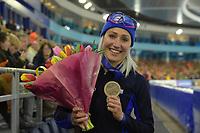 SPEEDSKATING: HEERENVEEN: 11-01-2020, IJsstadion Thialf, European Championship distances, 3000m Ladies, Francesca Lollobrigida (ITA), bronze medal, ©foto Martin de Jong