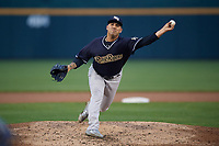 Scranton/Wilkes-Barre RailRiders starting pitcher Nestor Cortes Jr. (10) during an International League game against the Buffalo Bisons on June 5, 2019 at Sahlen Field in Buffalo, New York.  Scranton defeated Buffalo 4-0, the second game of a doubleheader.  (Mike Janes/Four Seam Images)