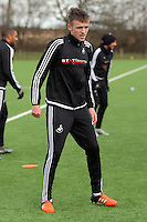 SWANSEA, WALES - JANUARY 28: Ryan Blair in action during the Swansea City Training Session on January 28, 2016 in Swansea, Wales.