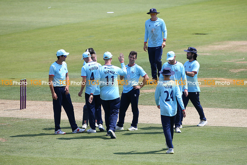 Ryan ten Doeschate of Essex claims the wicket of James Fuller during Hampshire Hawks vs Essex Eagles, Royal London One-Day Cup Cricket at The Ageas Bowl on 22nd July 2021