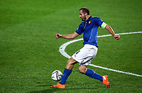 Italy's Giorgio Chiellini in action during the for UEFA Nations League football match between Italy and Netherlands at Bergamo's Atleti Azzurri d'Italia stadium, October 14, 2020.<br /> UPDATE IMAGES PRESS/Isabella Bonotto