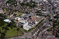 Aerial view of Royal Gwent Hospital in Newport south Wales