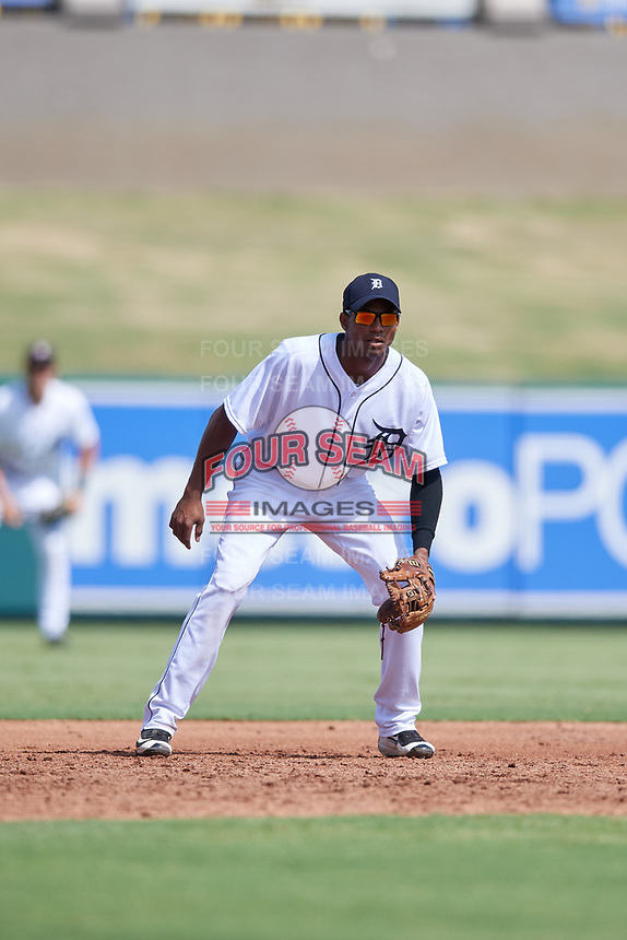 Detroit Tigers Isrrael De La Cruz (68) during a Florida Instructional League game against the Pittsburgh Pirates on October 6, 2018 at Joker Marchant Stadium in Lakeland, Florida.  (Mike Janes/Four Seam Images)