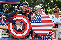 Cary, NC - Sunday October 22, 2017: U.S. fans prior to an International friendly match between the Women's National teams of the United States (USA) and South Korea (KOR) at Sahlen's Stadium at WakeMed Soccer Park. The U.S. won the game 6-0.