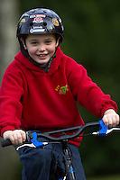 Josh  riding Trek mountain bike ..Virginia Water , Surrey ..February 2007..