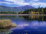 Fall view of Mt. Katahdin from Kidney Pond in Baxter State Park, Maine, USA