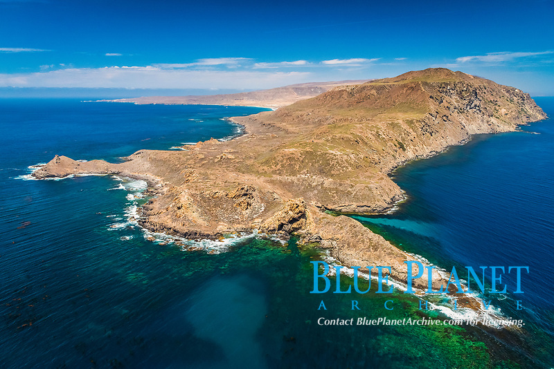 San Clemente Island Pyramid Head, the distinctive pyramid shaped southern end of the island, Channel Islands National Park, California, USA, Pacific Ocean