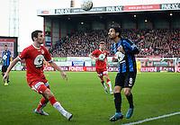 KV Kortrijk - Club Brugge : Lior Refaelov (r) en Stijn De Smet (links) <br /> Foto VDB / Bart Vandenbroucke