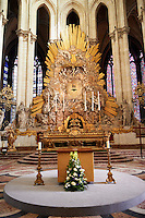 Baroque high altar of the Cathedral of Notre-Dame, Amiens, France.
