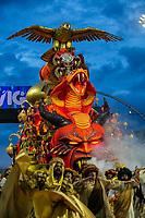 SÃO PAULO, SP, 02.03.2019: CARNAVAL-SP – Apresentação da escola de samba Gaviões da Fiel durante o segundo dia de desfile do Grupo Especial do carnaval de São Paulo, neste sábado (02), no Sambódromo do Anhembi na capital paulista. (Foto: Marivaldo Oliveira/Código19)