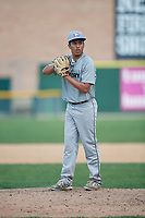 Pitcher Julian Morales (16) during the Dominican Prospect League Elite Underclass International Series, powered by Baseball Factory, on August 1, 2017 at Silver Cross Field in Joliet, Illinois.  (Mike Janes/Four Seam Images)