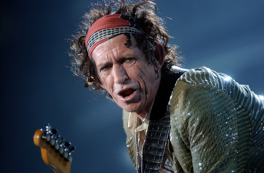 Keith Richards takes the stage for the first of two sold-out Rolling Stones shows in Regina, Saskatchewan.