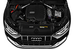Car Stock 2021 Audi A4-allroad Premium-Plus 5 Door Wagon Engine  high angle detail view