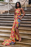 """Michaela Coel<br /> arriving for the world premiere of """"Our Planet"""" at the Natural History Museum, London<br /> <br /> ©Ash Knotek  D3491  04/04/2019"""