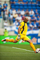 El Salvador goalkeeper Dagoberto Portillo (1). during a CONCACAF Gold Cup group B match at Red Bull Arena in Harrison, NJ, on July 8, 2013.