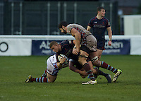 Jack Walker of London Scottish Football Club during the Greene King IPA Championship match between London Scottish Football Club and Rotherham Titans at Richmond Athletic Ground, Richmond, United Kingdom on 1 January 2017. Photo by Alan  Stanford.