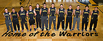 April 26, 2017- Tuscola, IL- The 2017 Warrior Track & Field Seniors. From left are Hunter Kauffman, Joey Lopez, Joe Downs, Dalton Donnals, Trent Ponder, Andy Salmon, Raymond Kerkhoff, Will Bosch, Josiah Lemay, Adam Bratten, Anthony Guo, and Chase Robinson. [Photo: Douglas Cottle]
