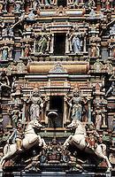 Asie/Malaisie/Kuala Lumpur: Temple hindou de Sri Maha Mariammam - Vue de détail
