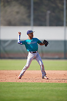 Brandon Mayberry (60), from Kansas City, Missouri, while playing for the Mariners during the Baseball Factory Pirate City Christmas Camp & Tournament on December 30, 2017 at Pirate City in Bradenton, Florida.  (Mike Janes/Four Seam Images)