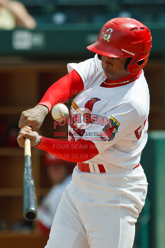 Adron Chambers April 20th, 2010; Midland Texas Rockhounds vs The Springfield Cardinals at Hammons Field in Springfield Missouri.  The Cardinals won in the 9th inning breaking a 1-1 tie.