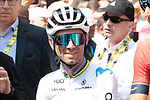 World Champion Alejandro Valverde (ESP) Movistar Team waitsfor the start of Stage 3 of the 2019 Tour de France running 215km from Binche, Belgium to Epernay, France. 8th July 2019.<br /> Picture: Colin Flockton | Cyclefile<br /> All photos usage must carry mandatory copyright credit (© Cyclefile | Colin Flockton)