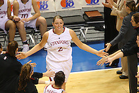 10 March 2008: Stanford Cardinal Jayne Appel during Stanford's 56-35 win against the California Golden Bears in the 2008 State Farm Pac-10 Women's Basketball championship game at HP Pavilion in San Jose, CA.