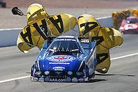 Mar 30, 2014; Las Vegas, NV, USA; NHRA funny car driver Robert Hight during the Summitracing.com Nationals at The Strip at Las Vegas Motor Speedway. Mandatory Credit: Mark J. Rebilas-