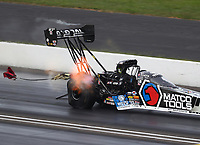 Sep 6, 2020; Clermont, Indiana, United States; NHRA top fuel driver Antron Brown during the US Nationals at Lucas Oil Raceway. Mandatory Credit: Mark J. Rebilas-USA TODAY Sports