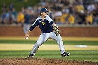 West Virginia Mountaineers relief pitcher Sam Kessler (42) in action against the Wake Forest Demon Deacons in Game Four of the Winston-Salem Regional in the 2017 College World Series at David F. Couch Ballpark on June 3, 2017 in Winston-Salem, North Carolina. The Demon Deacons walked-off the Mountaineers 4-3. (Brian Westerholt/Four Seam Images)