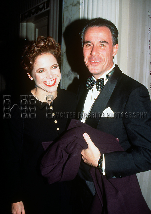 """Katie Couric and her husband Jay Monahan pictured at """"People for the American Way"""" to honor C. Kuralt at the Waldorf Astoria on November 10, 1994."""
