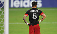 WASHINGTON, DC - AUGUST 25: Junior Moreno #5 of D.C. United during a game between New England Revolution and D.C. United at Audi Field on August 25, 2020 in Washington, DC.