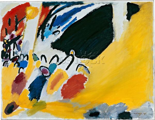 Kandinsky, Wassily Wassiljewitsch (1866-1944), Impression III (Konzert), ֬ auf Leinwand, 77,5x100, Expressionismus. 1911, Russland, St䤴ische Galerie im Lenbachhaus, M.   Kandinsky, Wassily Vasilyevich (1866-1944), Impression III (Concert), Oil on canvas, 77,5x100, Expressionism. Russia, 1911, St䤴ische Galerie im Lenbachhaus, Munich.  Credit: culture-images/fai  Persoenlichkeitsrechte werden nicht vertreten.  Verwendung / usage: weltweit / worldwide