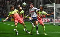 Preston North End's Alan Browne battles away in the heart of the Manchester City defence<br /> <br /> Photographer Dave Howarth/CameraSport<br /> <br /> The Carabao Cup Third Round - Preston North End v Manchester City - Tuesday 24th September 2019 - Deepdale Stadium - Preston<br />  <br /> World Copyright © 2019 CameraSport. All rights reserved. 43 Linden Ave. Countesthorpe. Leicester. England. LE8 5PG - Tel: +44 (0) 116 277 4147 - admin@camerasport.com - www.camerasport.com