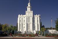 AJ3829, Mormon, temple, St. George, Mormon Temple, Utah, St. George Mormon Temple, the first Mormon Temple in Utah, in Saint George in the state of Utah.
