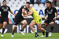 22nd May 2021; Eden Park, Auckland New Zealand; All Blacks Sevens versus Australia, Trans-Tasman Sevens;  Tone Ng Shiu is held up