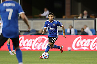 SAN JOSE, CALIFORNIA - JULY 24: Javier Lopez #9 of the San Jose Earthquakes during a game between Houston Dynamo and San Jose Earthquakes at PayPal Park on July 24, 2021 in San Jose, California.