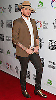 LOS ANGELES, CA, USA - OCTOBER 14: Adam Lambert arrives at the Marco Marco: Collection Three 2015 Runway Presentation held at the Viviana Cathedral on October 14, 2014 in Los Angeles, California, United States. (Photo by Rudy Torres/Celebrity Monitor)