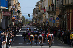 Crosswinds split the race apart during Stage 7 of the 103rd edition of the Giro d'Italia 2020 running 143km from Matera to Brindisi, Sicily, Italy. 9th October 2020.  <br /> Picture: LaPresse/Fabio Ferrari | Cyclefile<br /> <br /> All photos usage must carry mandatory copyright credit (© Cyclefile | LaPresse/Fabio Ferrari)