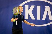 Amstelveen, Netherlands, 16  December, 2020, National Tennis Center, NTC, NK Indoor, National  Indoor Tennis Championships, : Jelle Sels (NED) <br /> Photo: Henk Koster/tennisimages.com
