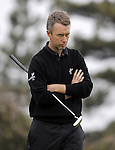 JEJU, SOUTH KOREA - APRIL 22:  Mark Foster of England waits for putt on the 14th green during the Round One of the Ballantine's Championship at Pinx Golf Club on April 22, 2010 in Jeju island, South Korea. Photo by Victor Fraile / The Power of Sport Images