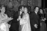 GINA LOLLOBRIGIDA CON VALENTINO GARAVANI - <br /> PREMIO THE BEST PALAZZO PECCI BLUNT ROMA 1977