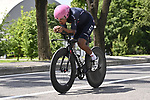 Race leader Egan Bernal (COL) Ineos Grenadiers recons the course before Stage 21 of the 2021 Giro d'Italia, an individual time trial running 30.3km from Senago to Milan, Italy. 29th May 2021.  <br /> Picture: LaPresse/Fabio Ferrari   Cyclefile<br /> <br /> All photos usage must carry mandatory copyright credit (© Cyclefile   LaPresse/Fabio Ferrari)