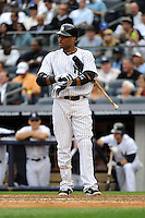 New York Yankees second baseman Robinson Cano #24 during a game against the Tampa Bay Rays at Yankee Stadium on September 21, 2011 in Bronx, NY.  Yankees defeated Rays 4-2.  Tomasso DeRosa/Four Seam Images