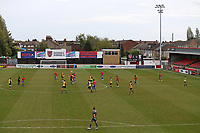 General view of the action behind closed doors during Dagenham & Redbridge vs Woking, Vanarama National League Football at the Chigwell Construction Stadium on 3rd May 2021