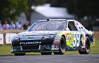 9th July 2021;  Goodwood  House, Chichester, England; Goodwood Festival of Speed; Day Two; The 2007 Ford Fusion NASCAR in the Goodwood Hill Climb
