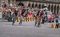 Nils Politt (DEU/Katusha-Alpecin) trying to stay ahead of teh peloton with the breakaway group in the Champs-Élysées laps<br /> <br /> Stage 21: Houilles > Paris / Champs-Élysées (115km)<br /> <br /> 105th Tour de France 2018<br /> ©kramon