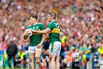 Dara Moynihan, and Stephen O'Brien, Kerry during the All Ireland Senior Football Semi Final between Kerry and Tyrone at Croke Park, Dublin on Sunday.