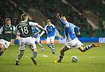 Hibs v St Johnstone.....11.02.13      SPL.Rowan Vine scores his second goal.Picture by Graeme Hart..Copyright Perthshire Picture Agency.Tel: 01738 623350  Mobile: 07990 594431