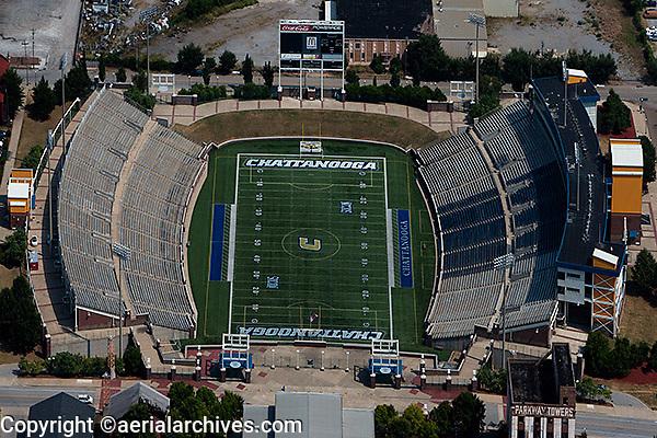 aerial photograph Finley Stadium, Davenport Field, Chattanooga, Tennessee